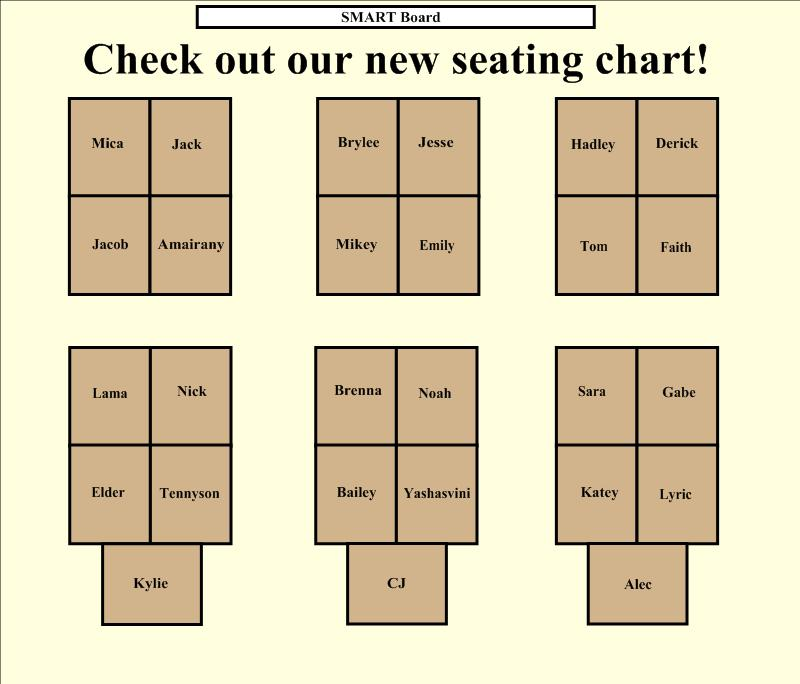 Seating Chart | Kristen Foley